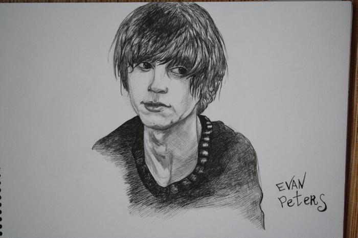 Evan Peters by Blueberryeyed